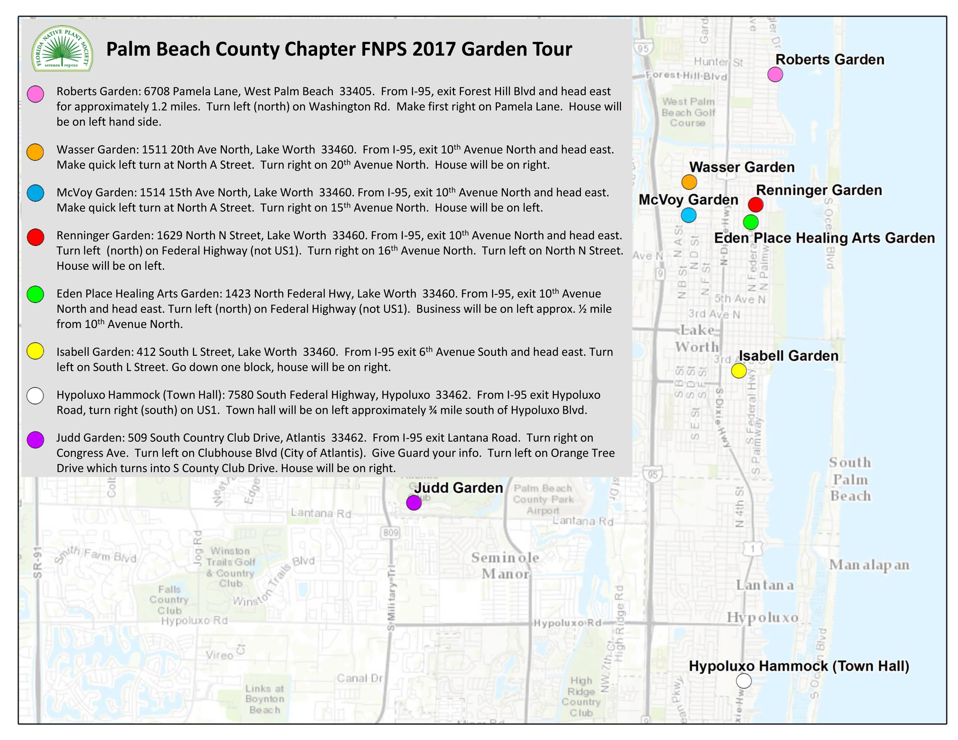 2017 Annual Native Plant Garden Tour - Palm Beach